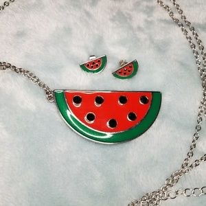 Bethany Mota Watermelon Necklace And Earrings